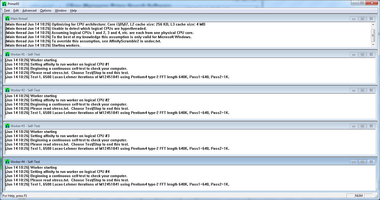 نرم افزار Prime 95 نسخه 29.8 برای تست پایداری سیستم