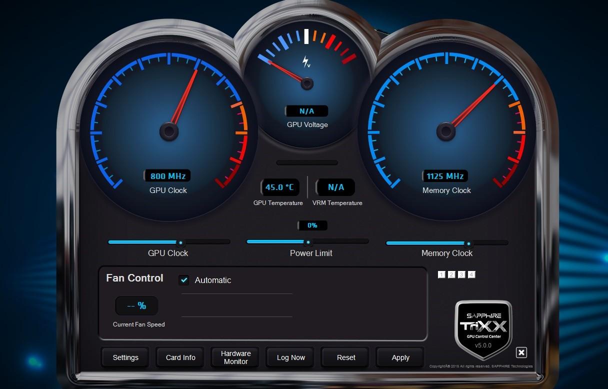 نرم افزار اورکلاک و تنظیم سرعت فن کارت گرافیک Sapphire TriXX